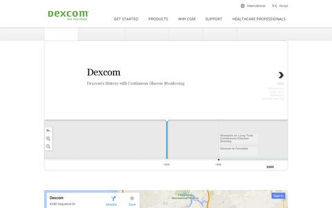 Screenshot of About Page dexcom.com - Continuous Glucose Monitoring Company - Learn More About Dexcom! | Dexcom - captured July 20, 2014