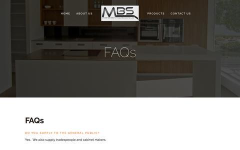 Screenshot of FAQ Page mcgrathbenchtops.co.nz - FAQs — McGrath Benchtop Solutions - captured Feb. 12, 2016