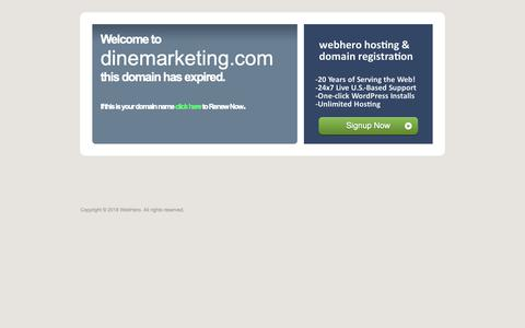 Screenshot of Home Page dinemarketing.com captured Nov. 13, 2018