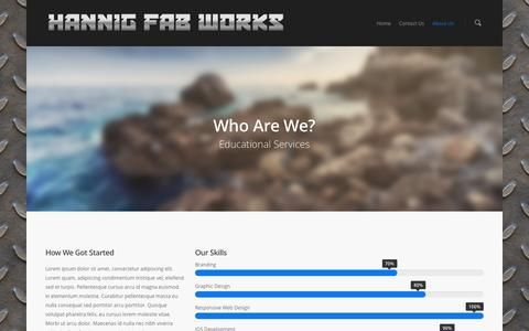 Screenshot of About Page hannigfabworks.com - About Us |  Hannig Fab Works - captured Dec. 7, 2015