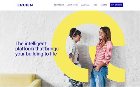 Screenshot of Home Page equiem.com.au - Equiem - The intelligent platform that brings your building to life - captured July 20, 2018