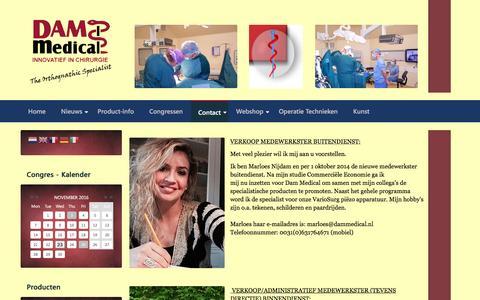 Screenshot of Team Page dammedical.nl - Team - captured Nov. 23, 2016
