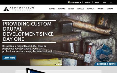 Screenshot of Home Page appnovation.com - Appnovation | Experts at Drupal, MuleSoft, HTML5 & More - captured Oct. 1, 2015
