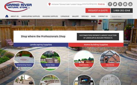 Screenshot of Home Page grandriverstone.com - Landscape & Building Supplies   Grand River Natural Stone - captured July 22, 2018