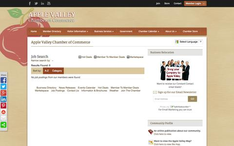 Screenshot of Jobs Page avchamber.org - Job Search - Apple Valley Chamber of Commerce - Apple Valley Chamber of Commerce - captured Oct. 4, 2014
