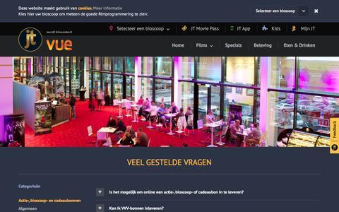 Screenshot of FAQ Page jt.nl - JT Bioscopen - captured Feb. 2, 2016