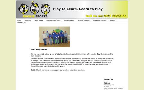 Screenshot of Case Studies Page rookiesports.co.uk - Rookie Sports - Case studies - captured Oct. 9, 2014