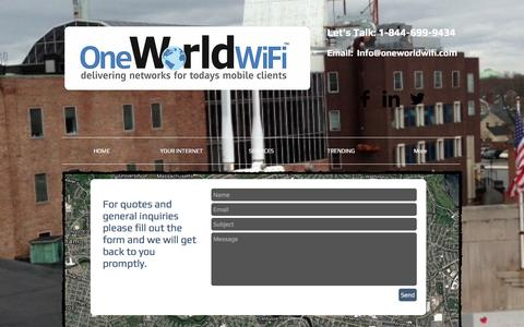 Screenshot of Contact Page oneworldwifi.com - Contact One World WiFi - captured Nov. 29, 2016