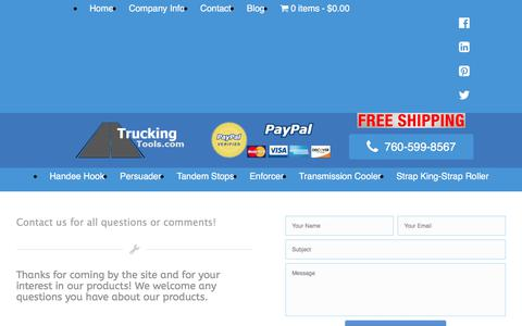 Screenshot of Contact Page truckingtools.com - Contact Us | TruckingTools.com - captured Nov. 14, 2017