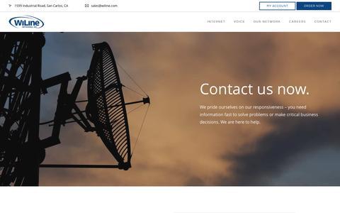 Screenshot of Contact Page wiline.com - Order Internet & Phone For Business   WiLine Networks - captured Nov. 30, 2016