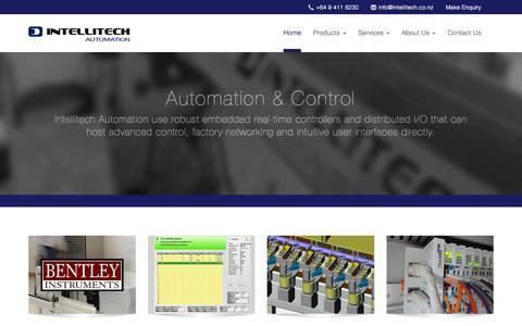 Screenshot of Home Page intellitech.co.nz - Intellitech Automation - captured Sept. 1, 2015