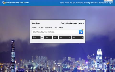 Screenshot of Home Page real-buzz.com - The global real estate marketplace - captured Sept. 23, 2014