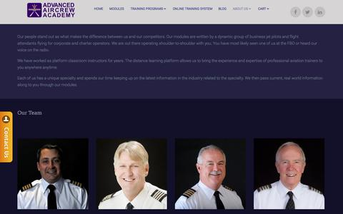 Screenshot of Team Page aircrewacademy.com - Advanced Aircrew Academy - Our Team - captured Nov. 20, 2016