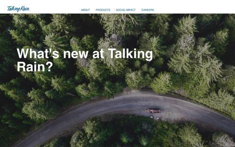 Screenshot of Press Page talkingrain.com - Blog & News – Talking Rain - captured Nov. 21, 2019