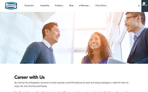 Screenshot of Jobs Page simmons.com.sg - Careers - Simmons | Simmons - captured Oct. 27, 2017