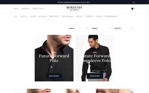 Men's Polos & Tees, Business Casual Shirtsleeve Shirts | Ministry of Supply