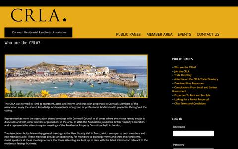 Screenshot of About Page crla.org.uk - Who are the CRLA? - captured Oct. 3, 2014