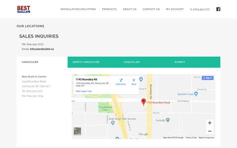 Screenshot of Contact Page bestsecurity.ca - Contact Us   Best Security - captured Oct. 5, 2018