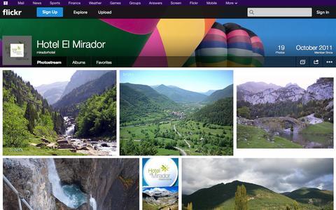 Screenshot of Flickr Page flickr.com - Flickr: miradorhotel's Photostream - captured Oct. 22, 2014