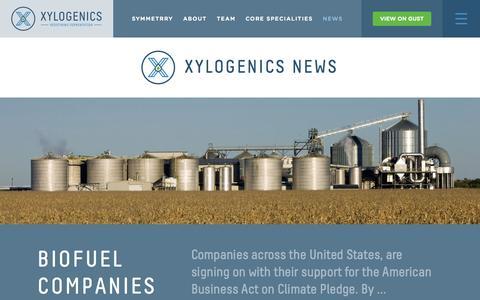 Screenshot of Press Page xylogenics.com - News - Xylogenics - captured Feb. 21, 2016