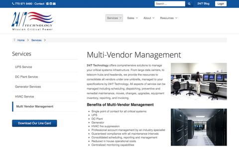 Screenshot of Team Page 247technology.com - Multi Vendor Management - captured Feb. 27, 2016