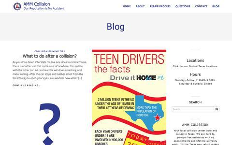 Screenshot of Blog ammcollision.com - AMM Collision - Auto Body Blog - captured Oct. 7, 2017