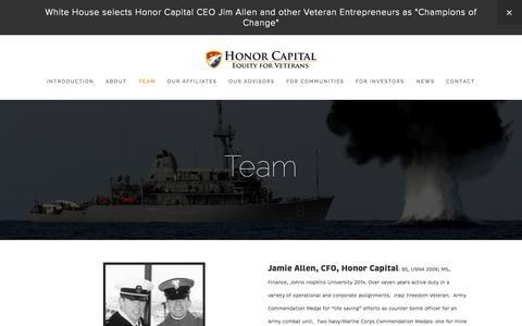 Screenshot of Team Page honorcapitalllc.com - Team — Honor Capital - captured Oct. 28, 2014