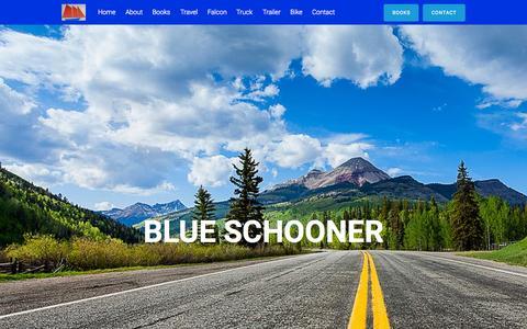 Screenshot of Home Page blueschooner.com - Blue Schooner   - captured Sept. 20, 2015