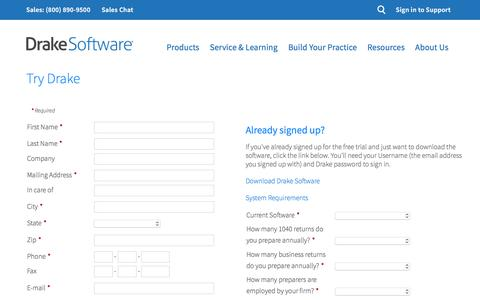 Try Software | Drake Software – Professional Tax Software