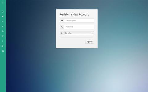 Screenshot of Signup Page triangle.io - Sign up free of charge   Triangle - captured Oct. 7, 2014