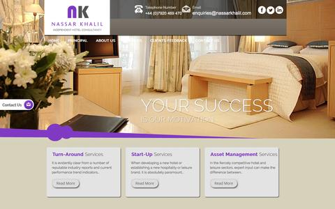 Screenshot of Services Page nassarkhalil.com - Hotel Asset Management Services from Hotel Specialists and Experts - Nassar Khalil and Associates   - captured Aug. 29, 2016