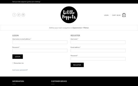 Screenshot of Login Page littlepoppets.co.nz - My Account – Little Poppets - captured Aug. 24, 2017