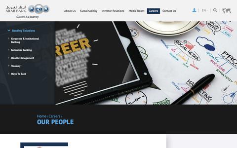 Screenshot of Team Page arabbank.com - Our People - captured Nov. 6, 2018