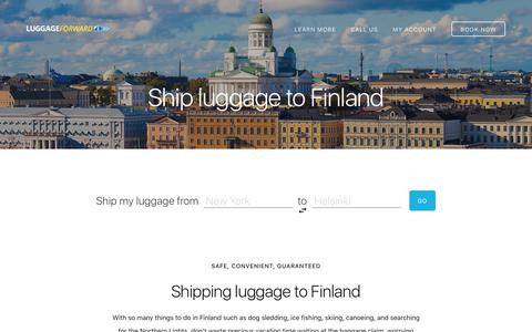 Ship Luggage to Finland - Guaranteed by Luggage Forward®