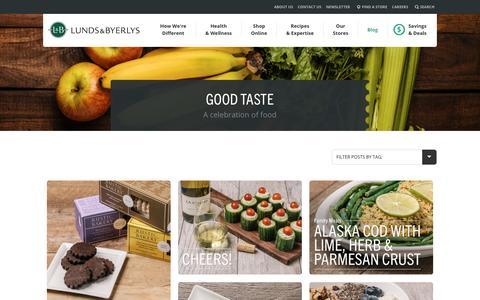 Screenshot of Blog lundsandbyerlys.com - Good Taste - A celebration of food - captured Jan. 14, 2016