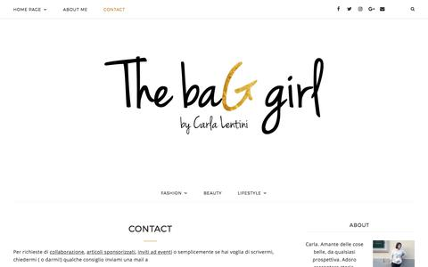 Screenshot of Contact Page thebaggirl.it - Contact - The baG girl - captured June 28, 2017
