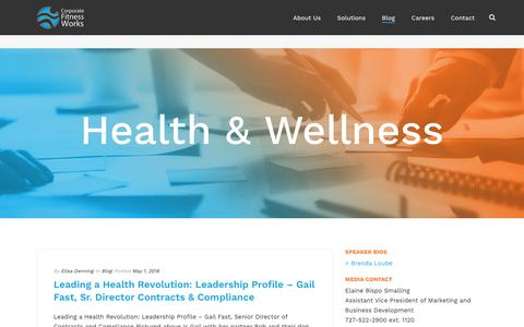 Health and Wellness Blog   Corporate Fitness Works