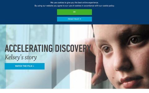 Screenshot of Home Page jax.org - The Jackson Laboratory - captured Oct. 1, 2015