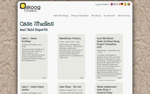 Screenshot of Case Studies Page skoogmusic.com - | Skoogmusic - captured Oct. 10, 2014