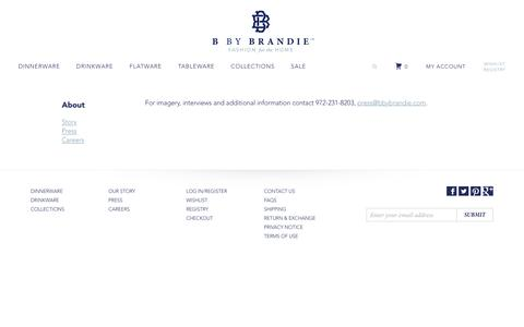 Screenshot of Press Page bbybrandie.com - Press | B by Brandie - captured July 10, 2016