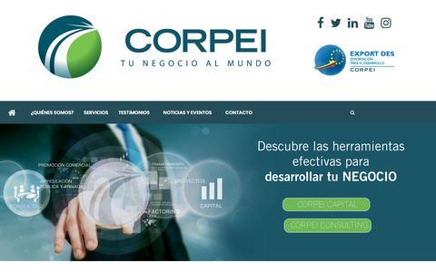 Screenshot of Home Page corpei.org - Home - CORPEI - captured July 13, 2018