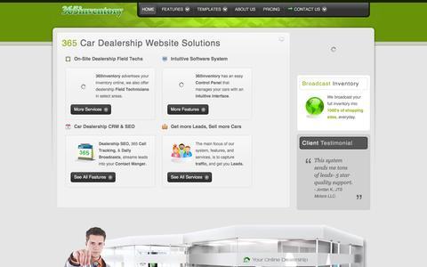 Screenshot of Home Page 365inventory.com - 365inventory | Car Dealership SEO | Auto Inventory Websites |  Dealer Software - captured March 5, 2016