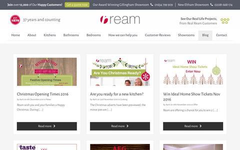 Screenshot of Blog ream.co.uk - Blog - Ream - captured Dec. 8, 2016