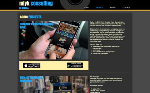 Screenshot of Home Page mlyk.com - mlyk consulting - mobile consulting - mobility - captured Oct. 11, 2014
