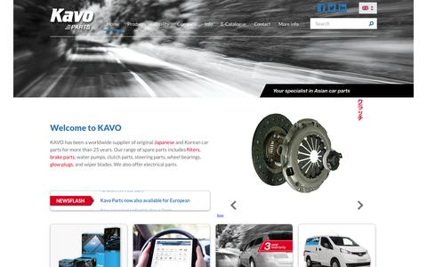 Screenshot of Home Page kavoparts.com - Kavo Parts - The leading supplier for Japanese and Korean spare-parts - captured Feb. 12, 2016