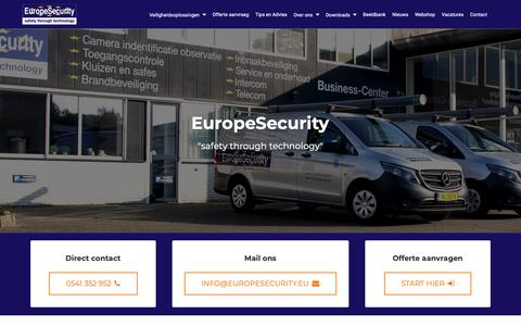 Screenshot of Contact Page europesecurity.nl - Contact | EuropeSecurity Technisch Beveiligingsbedrijf - captured Sept. 29, 2018