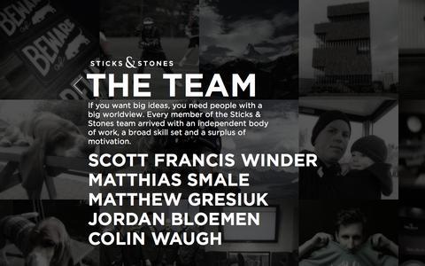 Screenshot of Team Page andstones.ca - The Team  |  Sticks & Stones - Edmonton Alberta's Strategic Marketing Agency - captured Feb. 18, 2016
