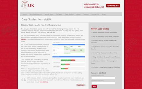 Screenshot of Case Studies Page dotuk.net - Case Studies Archives - dotUK - captured Oct. 8, 2014