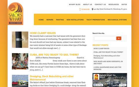 Screenshot of Blog sailorswharf.com - Blog | - captured Nov. 18, 2016