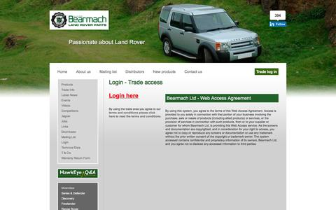 Screenshot of Login Page bearmach.com - Bearmach - captured Dec. 30, 2015